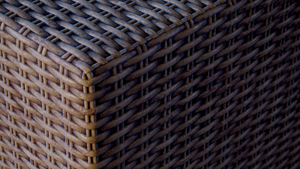 wicker substance material